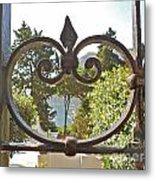 Capri Through Gate Metal Print by Italian Art