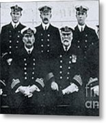 Captain And Officers Of The Titanic Metal Print