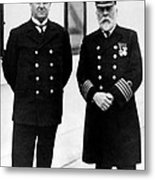 Captain Edward Smith Right, Of The Rms Metal Print