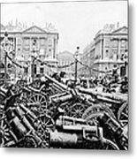 Captured German Guns At Palace De La Concorde In Paris - France Metal Print