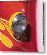 Car Headlight Metal Print by Garry Gay