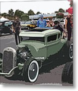 Car Show Coupe Metal Print by Steve McKinzie