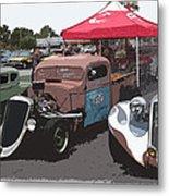 Car Show Hot Rods Metal Print by Steve McKinzie