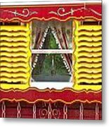 Caravan Window Metal Print