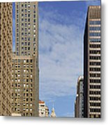 Carbide And Carbon And Wrigley Building - Two Chicago Classics Metal Print