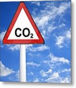 Carbon Dioxide And Global Warming Metal Print by Victor De Schwanberg