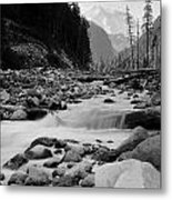 Carbon River Metal Print
