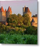 Carcassonne Dawn Metal Print