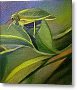 Card Of Fancy Bug Metal Print