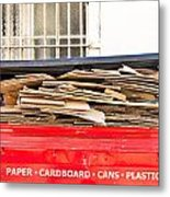 Cardboard  Metal Print by Tom Gowanlock