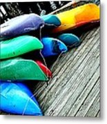 Carefully Stacked Metal Print