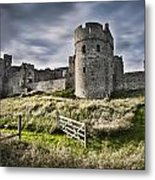 Carew Castle Pembrokeshire Long Exposure 2 Metal Print