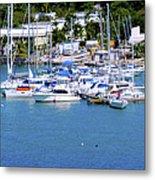 Caribbean Sails Metal Print