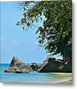 Caribe Beach Metal Print by Jenny Senra Pampin