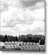 Cariboo Country Hay Bales Metal Print