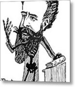 Caricature Of Roentgen And X-rays Metal Print by