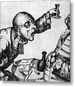 Caricature Of Two Alcoholics, 1773 Metal Print