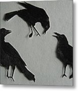 Carl's Crows Metal Print