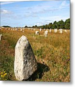 Carnac Standing Stones Metal Print