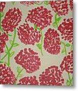 Carnation Field Metal Print