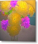 Carnation Glow Metal Print