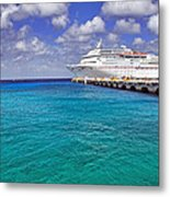 Carnival Elation Docked At Cozumel Metal Print