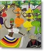 Carnival In Port-au-prince Haiti Metal Print by Nicole Jean-Louis