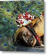 Carnival Mask From Alps Metal Print