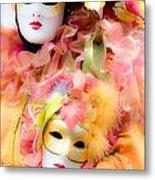 Carnival Mask Metal Print