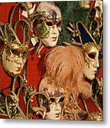 Carnival Masks For Sale Metal Print by Jim Richardson