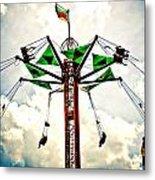 Carnival Swings Metal Print