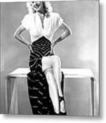 Carole Landis, Mid 1940s Metal Print