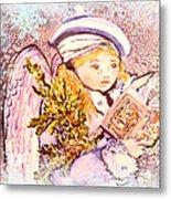 Caroling Angel Metal Print