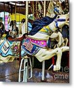Carousel - Horse - Jumping Metal Print