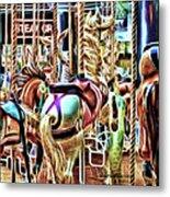 Carousel 7 - Fractals Metal Print