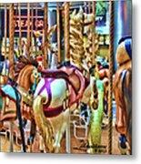 Carousel 7 Hdr Metal Print