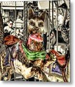 Carousel Cat Metal Print