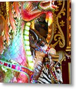 Carousel Dragon Metal Print