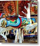 Carousel Horse With Fish Metal Print