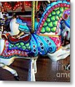 Carousel Horse With Sea Motif Metal Print