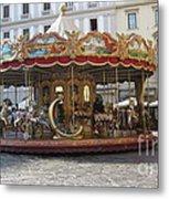 Carousel In Florence Metal Print