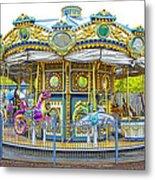 Carousel Ride In Pittsburgh Pennsylvania Metal Print