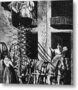 Carriage Cartoon, 1776 Metal Print