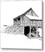 Carriage House Metal Print by Donald Black