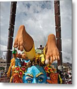 Carriage In The Carnival Blacks And Whites. City Of Pasto. Republic Of Colombia. Metal Print