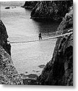 Carrick A Rede Rope Bridge County Antrim Ireland Metal Print