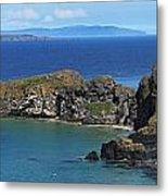 Carrick-a-rede Rope Bridge In The Metal Print