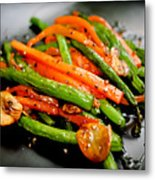 Carrot And Green Beans Stir Fry Metal Print