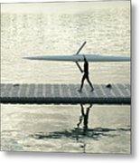 Carrying Single Scull Metal Print