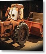 Cars Land Cow Tractor Metal Print